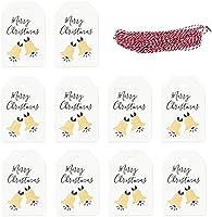 100ピースクリスマスペーパータグ DIY.クリスマスホリデーパーティーのための麻ロープクリスマスツリーの装飾とクラフトハンギングラベル HTZ (色 : Picture 4)