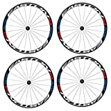 HMANE 4Pcs Bike Stickers Bicycle Wheel Rims Light Safety Reflective Stickers Decal