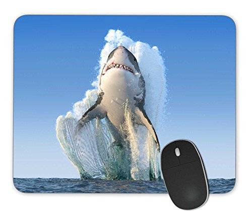 KingKang Shark Jumps Out of The Water Mouse Pad Office Mouse Pad Gaming Mouse Pad