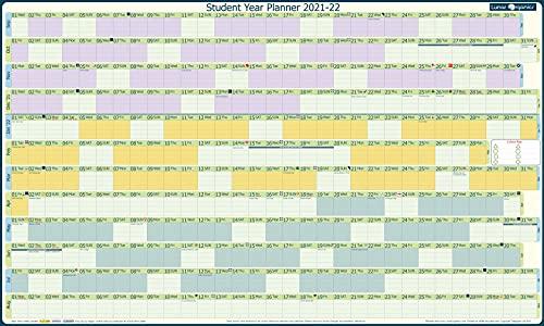 LunarOrganics Student Academic Year Wall Planner 2021-2022