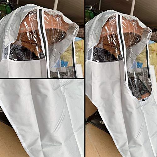 Logicstring Cubierta De Lluvia Universal para Capazo De Cochecito, Cubierta De Lluvia, Circulación De Aire, Resistente Al Agua Y Protección Duradera para Bebés Protector De Lluvia (Sin PVC) Gris