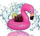 1x Getränkehalter Flamingo aufblasbar Luftmatratze Schwimmring Schwimmreif für Pool, Cocktailhalter, Bierhalter, Becher, Dosenhalter, Becherhalter Bier (1x Flamingo)