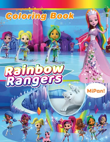 Rainbow Rangers Coloring Book: Vivid Character Designs For Relaxation And Stimulating Creativity