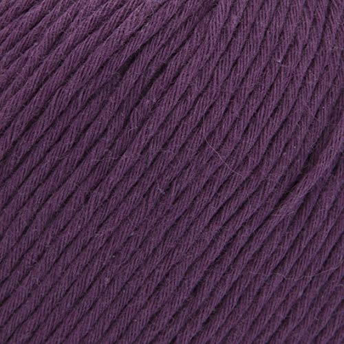ggh Cottina, Farbe:021 - Aubergine, 100% Baumwolle, 50g Wolle als Knäuel, Lauflänge ca.140m, Verbrauch 400g, Nadelstärke 3-4, Wolle zum Stricken und Häkeln