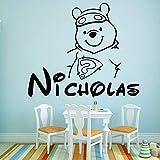 YuanMinglu Adhesivo de Pared de Vinilo Impermeable Autoadhesivo Hot Bear para Sala de Estar para niños 54x63cm