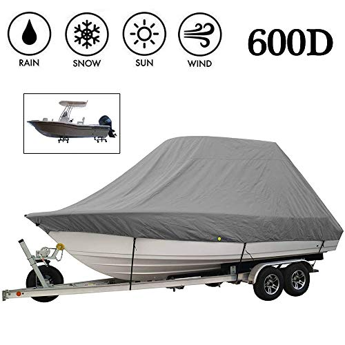 BODOGY-KB Large Size Heavy Duty Boat Cover, Waterproof Windproof and Dustproof Boat Covers Trailerable Runabout Boat Cover Suitable for V-Shaped Boats and Trimaran,25 to 27ft