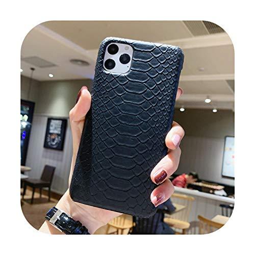 Nuestra dama, funda de piel sintética de serpiente para iPhone 11 Pro 6 6S Plus 7 7Plus 8 8Plus X XR XS Max Funda de teléfono de piel de cocodrilo con textura, para iPhone 8 Plus