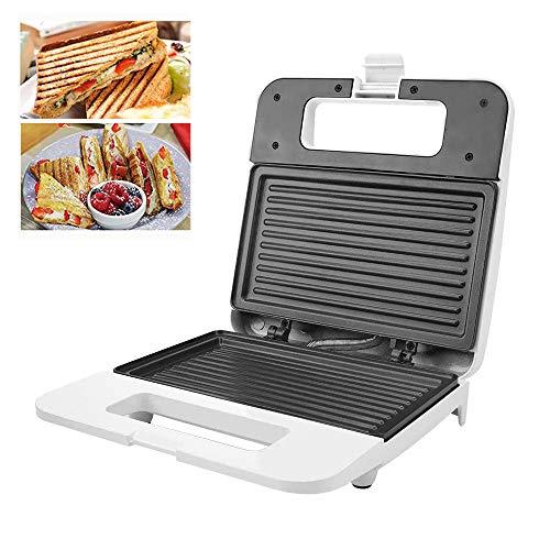 STKJ Multifunktionaler Toaster Sandwich Maker, Presse Grill Panini Maker Innenraum Doppelt Geschlossen Mit Antihaft-Kochfeld Für Die Küche