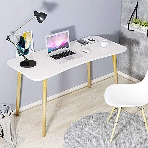 N/Z Equipo Diario Escritorios de Mesa Mesa Plegable Escritorio de computadora nórdico Patas de Madera Maciza Sala de Estar del Estudiante Escritorio Escritorio Blanco