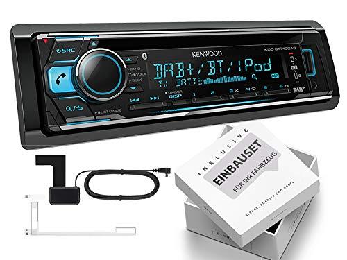 Kenwood KDC-BT710DAB 1-DIN autoradio met DAB inclusief antenne Bluetooth voor Citroen C1 P 2005-2010 zwart