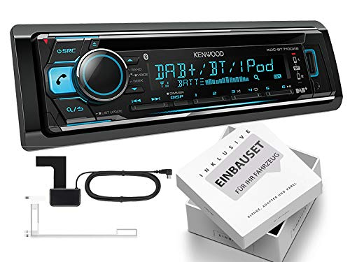 Kenwood KDC-BT710DAB 1-DIN autoradio met DAB inclusief antenne Bluetooth voor Toyota Aygo AB 1 tot 07/2014 zwart