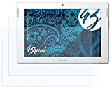 Bruni Schutzfolie kompatibel mit Medion LIFETAB S10346 MD99282 Folie, glasklare Bildschirmschutzfolie (2X)