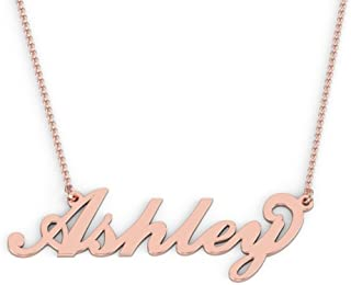 14K Personalized Name Necklace in Flourish Font by JEWLR