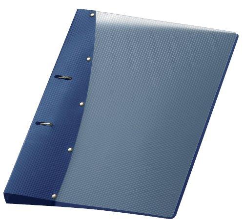 Veloflex 1141450 Ringordner Diamond, Ringbuch, Ordner, DIN A4, 2-Ring-Mechanik, 20 mm, PP-Vollkunststoff, blau