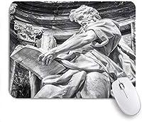 ゲームマウスパッドカスタム、建築史石アートローマ市イタリアヨーロッパのデザイン写真プリント、オフィスパーソナライズされたデザイン滑り止めゴムマウスパッド9.5 X 7.9インチ