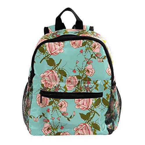 Mochila escolar para niñas con correa para niños, mochila escolar para niñas de primaria, diseño de cactus verde