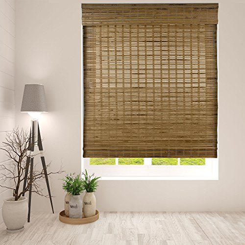 Arlo Blinds Dali Native Cordless Bamboo Shades Blinds - Size: 19' W x 60' H, Cordless Lift System ensures Safety and Ease of use.