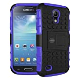 Galaxy s4 Case, Samsung Galaxy s4 Armor Cases | Tough Armorbox Dual Layer Hybrid Hard/Soft Protective Case by Cable and Case | Purple Case