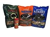 Western Perfect BBQ Smoking Wood Chips, with Free Bottle of Famous Dave's Rib Rub, Variety Pack -...
