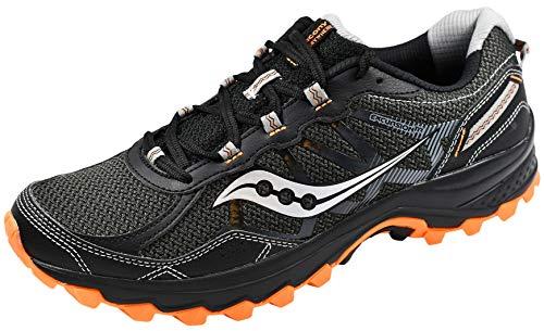 Saucony Men's Excursion Tr11 Running Shoe, Black/Grey/Orange, 12 M US