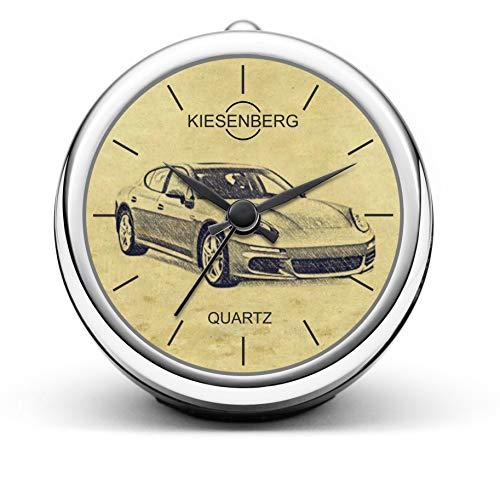 KIESENBERG Design Tischuhr Geschenke für Porsche Panamera S E-Hybrid Fan Uhr T-5370