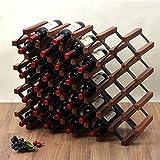 FENGFAN-Casier à vin Présentoir de Rangement en Bois Naturel de 36 Bouteilles pour Bar Cave à vin (Taille : 36 Bottles)