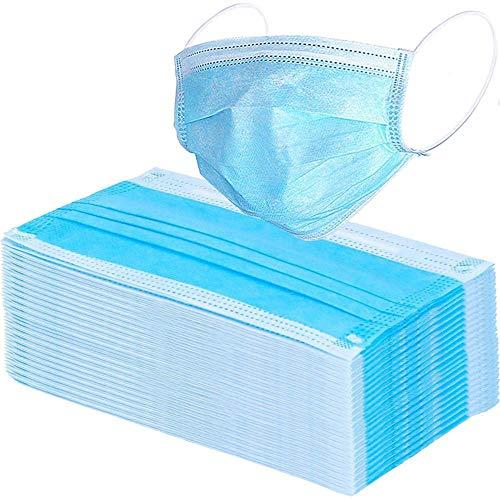 Mundschutz Maske 3-lagig OP Hygienemaske Gesichtsmaske Einwegmaske Filtermaske Atemschutz Blau 10 Stück