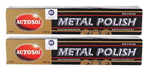 Autosol Metal Polish Chrome Shine Chrome Polish 75 ml Paquete de 2