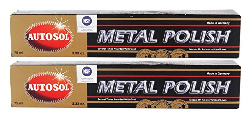 Autosol 2X Metal Polish Edel Chromglanz Metall Politur Chrompolitur 75 ml