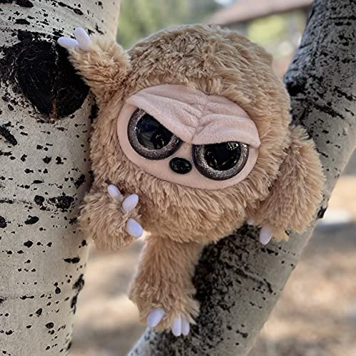 Grumpy Baby Sloth - Adorable Super Soft Plush Stuffed Animal Toy Doll (Glitter Eyes) - Large 12 Inch - Unique Gift for Kids and Adults
