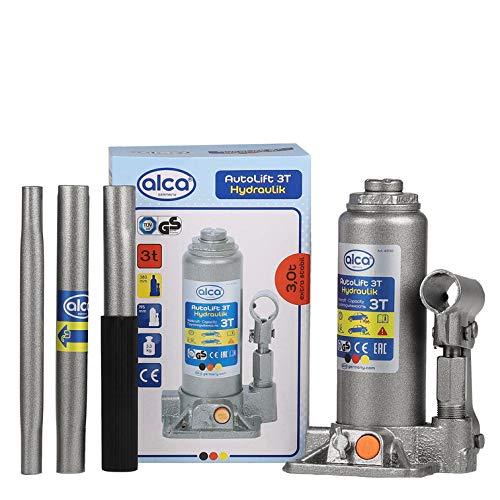 Alca Germany Soporte hidráulico para botella de coche, soporte para herramientas de elevación, furgoneta, autocaravana, diferentes tamaños (3 toneladas de botella Jack)