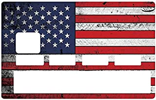DECO-IDEES Credit Card Sticker - Bank Card, Used American Flag - Personalize Your Credit Card with These Removable Stickers