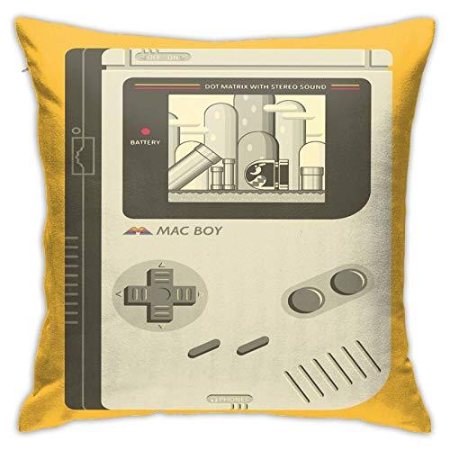 Opahxa5 Mac Boy Throw Pillow Covers Both Sides Cotton Pillow Case Decor Home Sofa Square Cushion Cover 18x18 in