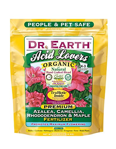 Dr. Earth Acid Lovers Azalea, Camellia, Rhododendron & Maple Fertilizer 4 lb
