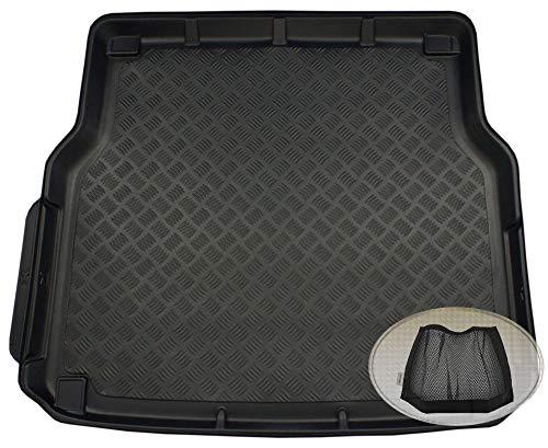 ZentimeX Z3323700 Geriffelte Kofferraumwanne fahrzeugspezifisch + Klett-Organizer (Laderaumwanne, Kofferraummatte)
