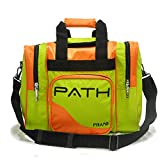 Pyramid Path Pro Deluxe Single Bowling Ball Tote Bowling Bag - Holds One Bowling Ball, One Pair of Bowling Shoes Up to Mens 15 Shoes and Accessories (Lime Green/Orange)