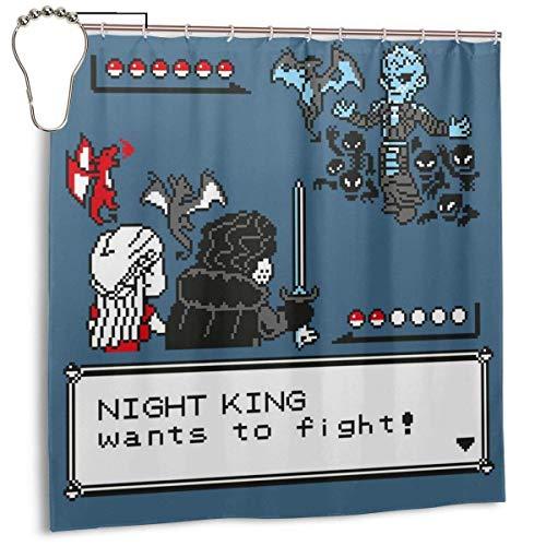 ngquzhe Wasserdichtes Polyestergewebe Duschvorhang Night King Monster der Tasche Battle Print Dekorative Bad Vorhang mit Haken, 72 '' X 72