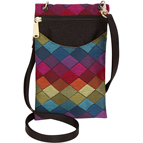 Danny K Women's Tapestry Crossbody Cell Phone or Passport Purse, Handmade in USA, Jewel, Cellphone Case