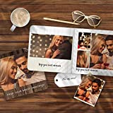 VEELU Custom Photo Album Book for Pictures Personalized Your Photograph 3D Printed on Book Best Gift Design Your Own ScrapbookPhotoAlbums 4 x 4 Inch