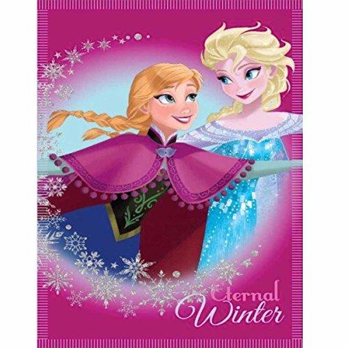 Plaid Polaire Fille La Reine des Neiges Elsa Anna et Olaf