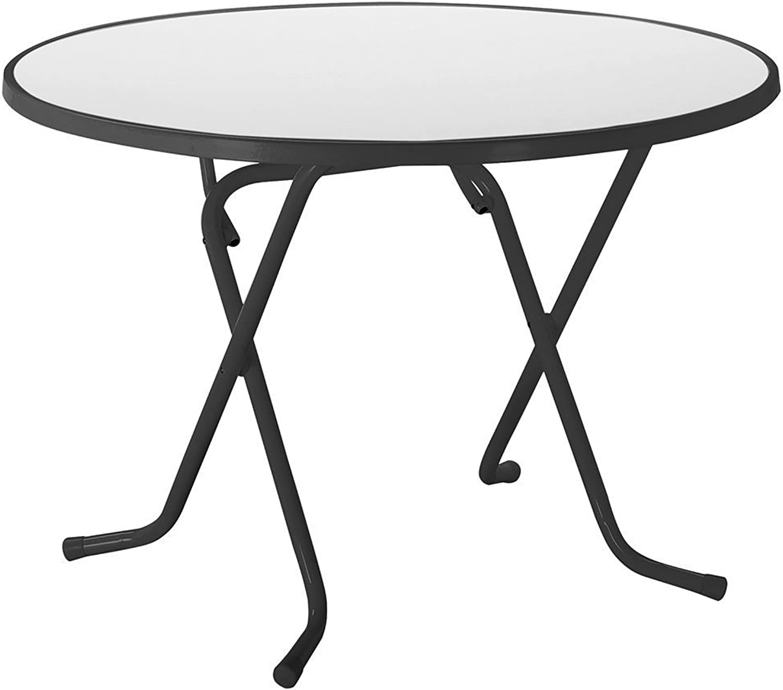 Best 26521050 Scherenklapptisch Primo rund, Durchmesser 100 cm, anthrazit