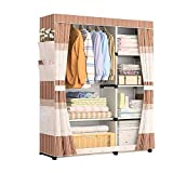 NXYJD Armario de Tela Sencilla ropero Marco de Tela Asamblea Tela Gabinete de Almacenamiento Mobiliario de Dormitorio (Color : A)