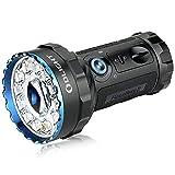 OLIGHT X7R Marauder 2 LED Linterna 14000 Lúmenes Ultra Brillante, Linterna Recargable con 7 Modos de Luz,3 * 21700 5000mAh Baterías,Ideal para Exteriores, Autodefensa, Búsqueda y Rescate,Negro