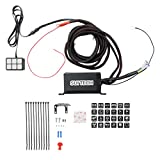 Suitech Universally Adaptable DC12V LED 6 Switch Panel Electronic Relay System with Circuit Control Box - Wiring Harness Kit for Any Vehicle - Power up to 6 Aftermarket Lights and Accessories - 600W