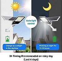 LEDソーラー街路灯1200W屋外夕暮れから夜明けまでのポールライトリモコン付き防水理想