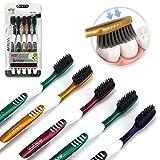 aoleva 5 pezzi spazzolini da denti manuale classic ultra soft medio spazzolino da viaggio