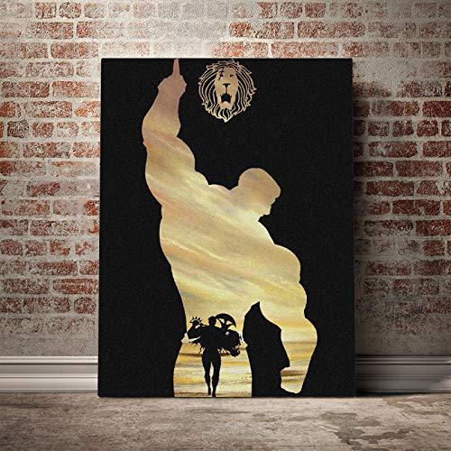 Tpqoaa Leinwandbild Watercolor Premium Leinwanddruck Escanor Seven Deadly Sins 55x73cm Leinwanddruck,abstraktes Bild,Für Schlaf-Und Wohnzimmer