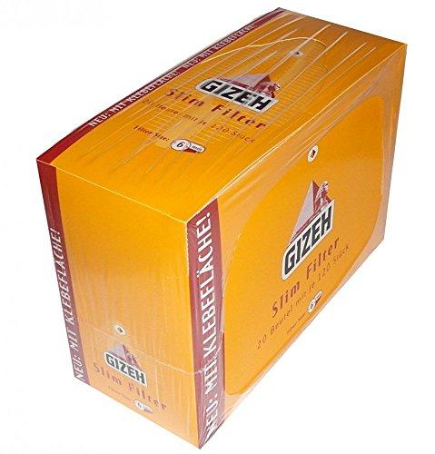 Gizeh Slimfilter 6mm mit Klebefläche (20x120)