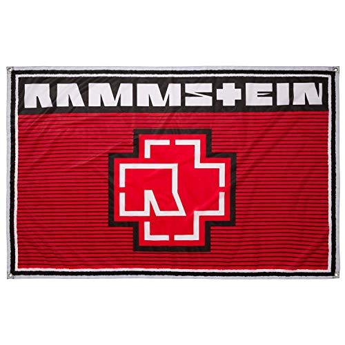 "Rammstein Fahne Flagge rot Streifen Rot"", Offizielles Band Merchandise"