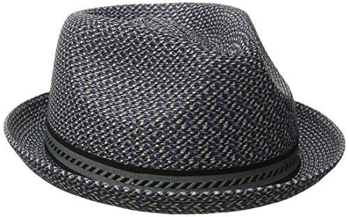 Bailey of Hollywood Men's Headwear Bailey Herren Trilby Mannes, Blau (Navy Multi), L